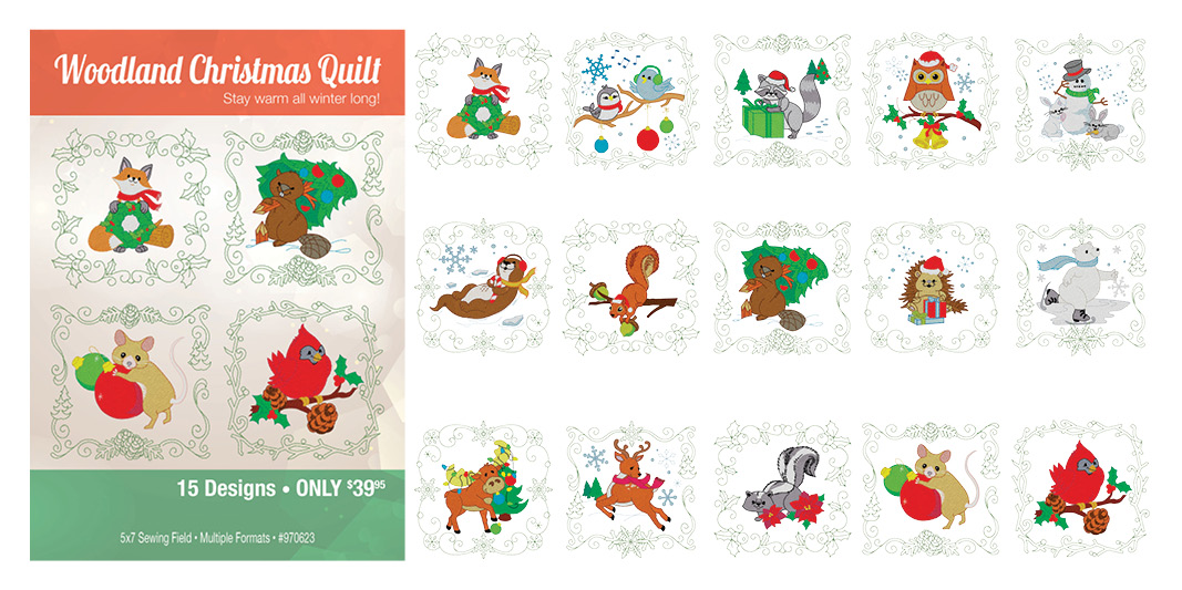 Christmas Animal Quilt